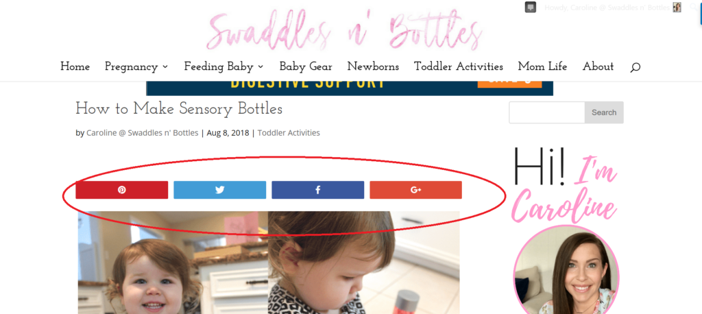 How to add a floating social share bar to the top of your post